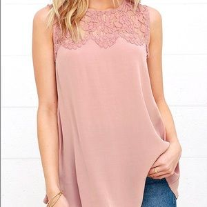 Lulu's Mauve Lace Top